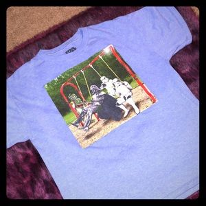 3 for $15 Star Wars faded /heather blue t shirt